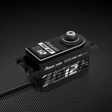 Power D12 Reverse Receiver Wire Low Profile (0.059s/12.5kg/7.4V) Coreless Servo