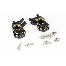 FASTRAX TRX-4 BRASS BK FRONT STEERING KNUCKLES (2)