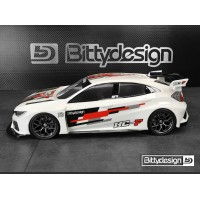 Bittydesign 1/10 FWD HC-F 190mm Clear Body Bittydesign (fronti)
