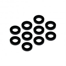 MR33 Aluminum Shim 3,0 x 6,0 x 1,0mm - Black (10 pcs)