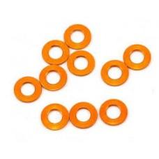 MR33 Aluminum Shim 3,0 x 6,0 x 0,5mm - Orange (10 pcs)