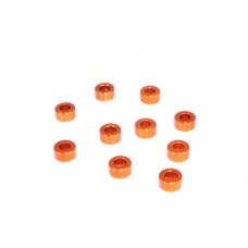 MR33 Aluminum Shim 3,0 x 6,0 x 3,0mm - Orange (10 pcs)