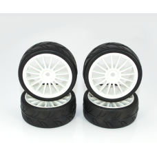 Ride Slick Tires glued specaly for FWD touring 1/10 cars, 4pcs.