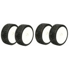 Shimizu D01J Dunlop Wet Pre-Glued Tyres (4pcs)