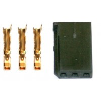 Servo/ESC Connector Gold  UNI (FUT & JR) plug - Male