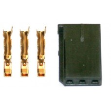 Servo/ESC Connector Gold  UNI (FUT & JR) plug - Male