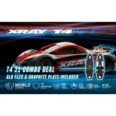 XRAY T4'21 - GRAPHITE EDITION - 1/10 LUXURY ELECTRIC TC + X301006 Aluminum Flex chassis