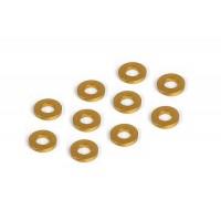 Alu shims 3x6x1 mm orange (10pcs)