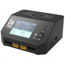 D6 Pro Dual Smart Charger AC / DC 2 x 325W 16A color LCD